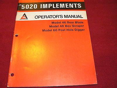 Allis Chalmers 5020 Tractors Implements Operators Manual