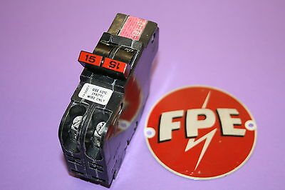 Federal Pacific 2-pole 15 Amp Thin Stab-lock Type Nc Breaker 120 240 Volt