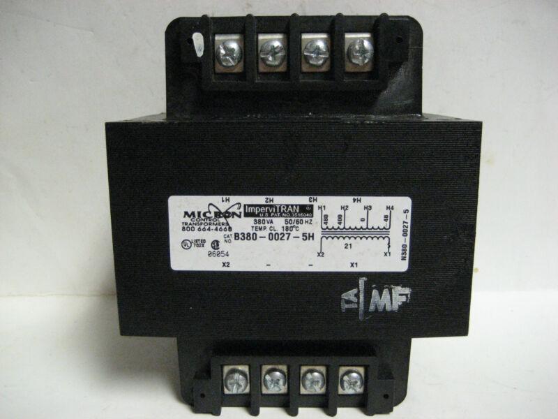* MICRON ImperviTRAN CONTROL TRANSFORMERS B380-0027-5H  380VA  50/60 HZ   YH-417