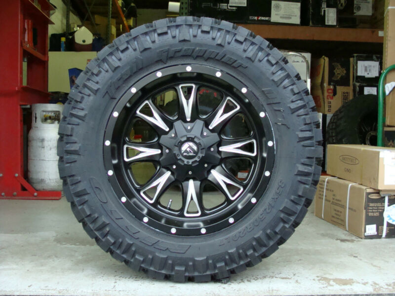 "20"" Fuel Off Road Throttle Black Nitto Trail Grappler 35x12.50r20 35"" Mud Tires"