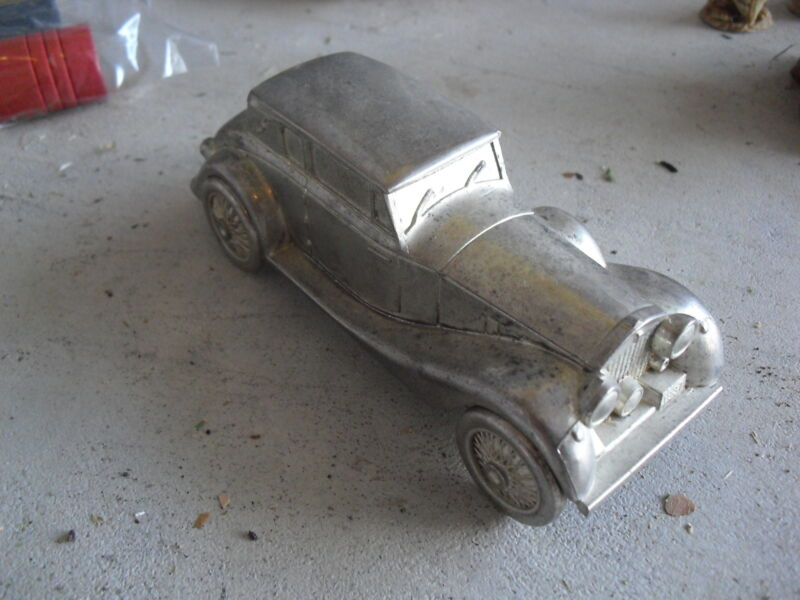 Vintage 1970s Classic Car Bank with Moving Wheels