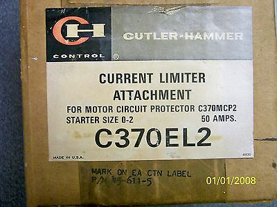 Cutler Hammer Current Limiter Attachment For C370mcp2 Starter Size 0-2 50amp