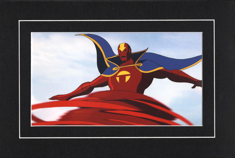 RED TORNADO FLYING MATTED PRINT YOUNG JUSTICE Animated