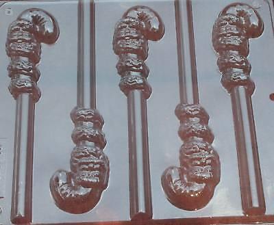 CANDY CANE SANTA PRETZEL ROD CHOCOLATE CANDY MOLD MOLDS DIY CHRISTMAS FAVOR CM - Christmas Pretzel Rods