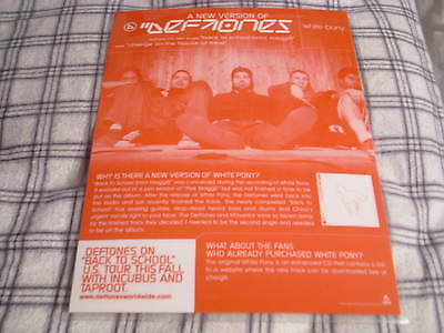 VERY RARE PROMO Deftones DISPLAY White Pony laminated NEW VERSION cd lp Crosses