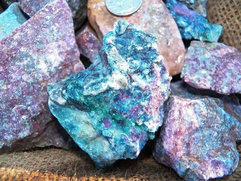 2000 Carat Lots of Ruby/Sapphire Rough- Plus a FREE Faceted Gemstone