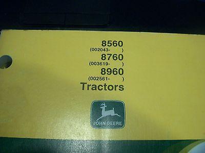 John Deere Tractor Operators Manual 8560 8760 8960 Omar110222 Issue A1