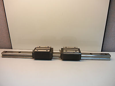 2 Thk Hsr35 Used Linear Guide Blocks With 1 23 916 Used Guide Rail Hsr35