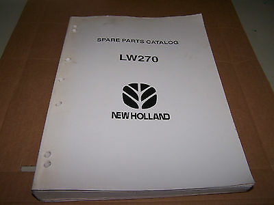 New Holland Lw270 Wheel Loader Spare Parts Catalog Manual