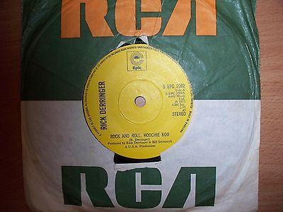 "RICK DERRINGER ""ROCK & ROLL HOOCHIE KOO"" vinyl single - USA production SEPC 2062"