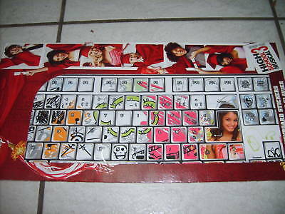 STICKERS POUR CLAVIER HIGH SCHOOL MUSICAL 3 AZERTY NEUF