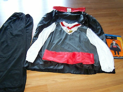 Boys Size Large 10-12 Vampire Halloween Costume Cape Top Pants Cummerbund