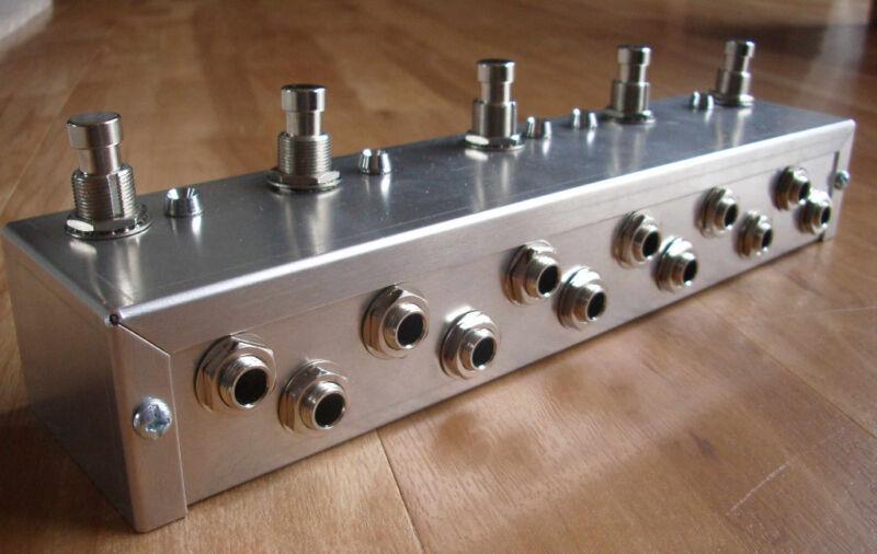 Programmable 5 Looper - Loop Pedal - True Bypass - Guitar Effects - Aluminium