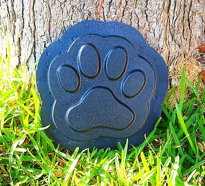 Dog Puppy Paw Print Stepping Stone Plastic Mold Concrete Cement Plaster Mould  - Puppy Paw Print
