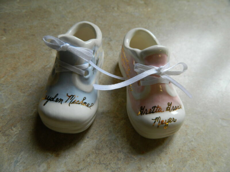 Personalized Ceramic Baby Tennis shoe gift