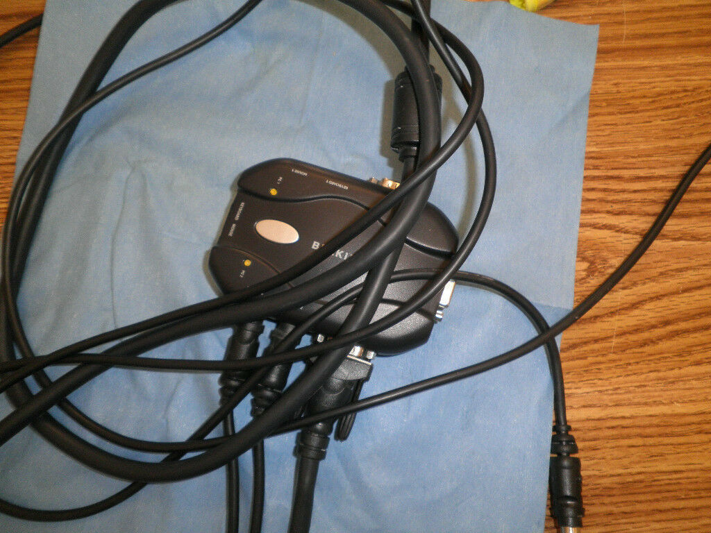 Belkin Model: F1DJ102P 2-Port KVM Switch w/Cables <