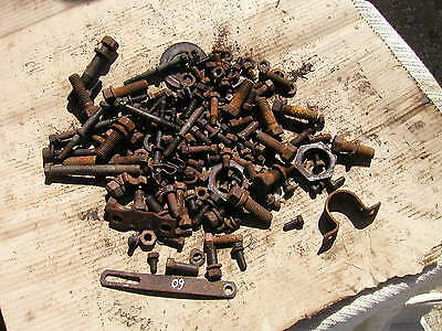 Oliver 60 Rowcrop Tractor Box Of Misc. Parts And Pieces Generator Bracket
