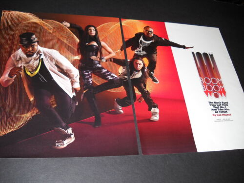 BLACK EYED PEAS Large Two-Piece Extended PROMO POSTER AD from 2009