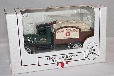 Ertl 1931  Quality Farm   Fleet Truck Bank   Mint Boxed