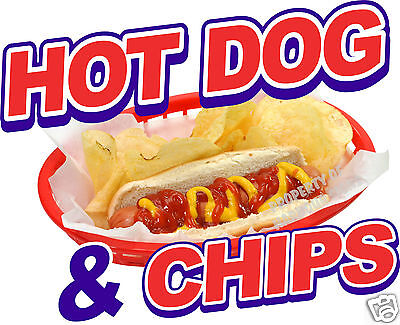 Hot Dog Chips Decal 8 Restaurant Concession Food Truck Cart Vinyl Sticker