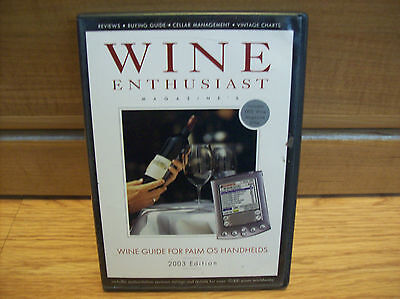 Wine Enthusiast Guide 2003 Software for Palm PDAs Free Ship REDUCED