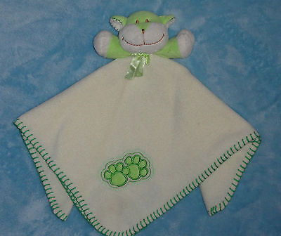 Blankets and Beyond Green & White Puppy Dog Paw Print Baby Security Blanket NUNU