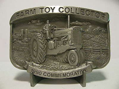1990 Farm Toy Collector John Deere 620 Tractor Limited Ed PROOF Belt Buckle jd