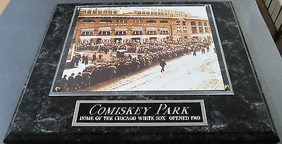 COMISKEY PARK CHICAGO WHITE SOX FRAMED 8X10 PHOTO-MAN CAVE ART-12X15 WALL PLAQUE ()