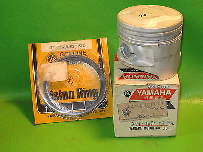 YAMAHA TX500 XS500 1973-77 PISTON & RINGS STANDARD OEM # 371-11631-05-96