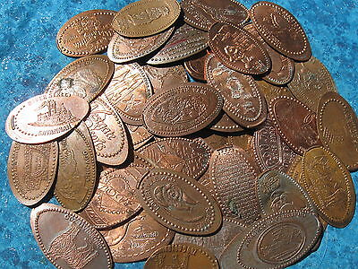 101 Elongated Penny Pressed Smashed Pennies Animals Disney Cities Etc 500