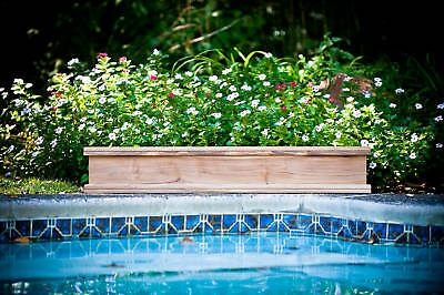 - Teak wood planter flower herb tree window box garden 31x9x8 (OD)