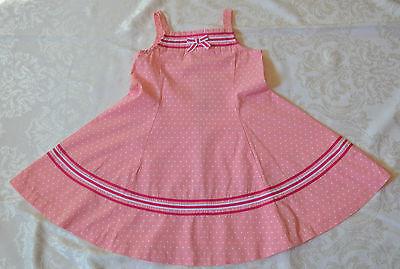 Gymboree CANDY APPLE Dot & Ribbon Pink Twirl Dress NWT 5T