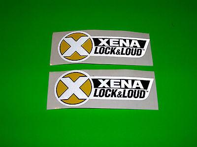 XENA LOCK & LOUD LOCKS MOTORCYCLE ATV QUAD SCOOTER METRIC BIKE DECALS STICKERS Xena Lock