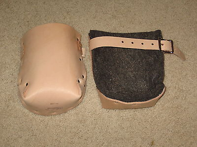 Leather Kneepads With Double Felt Lining -- Concrete Accessory Made In The Usa