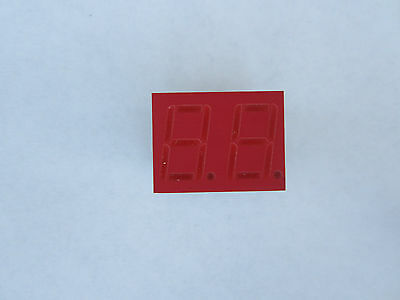 LED Segment Display, 2 digit, 7 segment, .56 inch, orange-red, 5 pcs