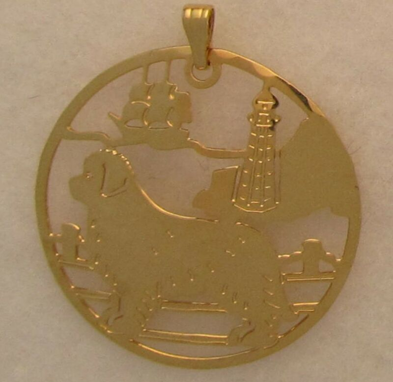 Newfoundland Jewelry Gold Pendant by Touchstone