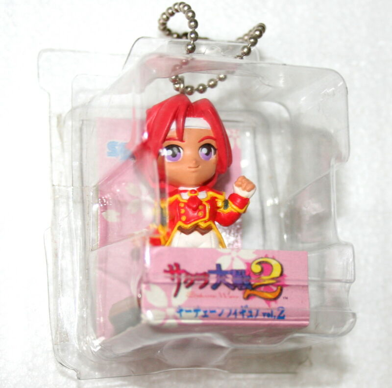 "Sakura Wars 2 Keychain 1998 Sega 3"" Figure Mint Kanna Japanese Anime NOS New"