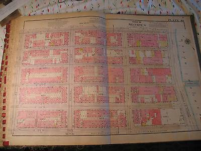 Original 1930 New York City NYC Atlas Linen Map 105 - 110 Harlem River to 3rd Av