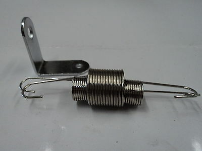 Chrome Throttle Return Spring Bracket & Dual Springs SBC BBC Chevy Ford 302 350
