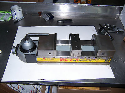 Double-lock Self Centering Hydraulic Cnc Milling Machine Vise 6 New