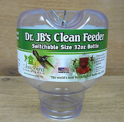 Dr. JB's Replacment Clean Hummingbird Feeder Jar Switchable Sizing 32oz Bottle