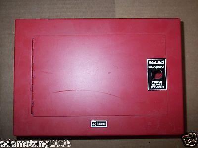 New No Box Simplex 2081-9036 Fire Alarm Red Enclosure Box