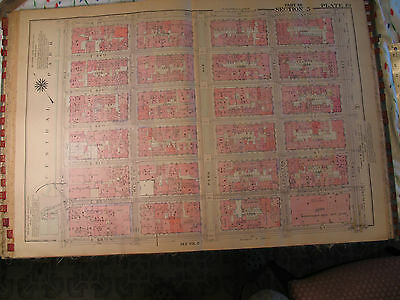 Original 1930 New York City NYC Atlas Linen Map 59 - 65 Central Park to 3rd Ave.