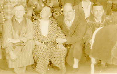 VINTAGE BATHROBES MEN LYNCHBURG VA AS NOWLIN COAL & COKE GAY INT FUNNY OLD PHOTO ()