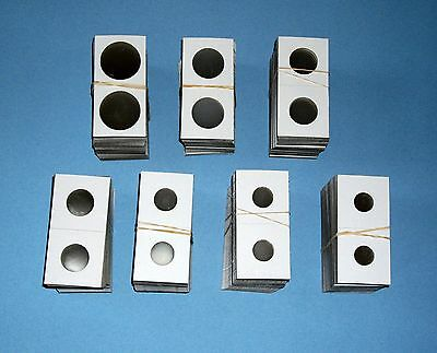 Two Hundred (200) Assorted Size-YOU PICK 2X2 Cardboard/Mylar Coin Holders Flips