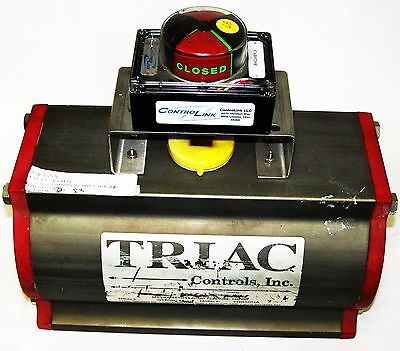 Triac Valve Rotary Actuator Tr850da Pneumatic 150psi Double Acting Rack Pinion