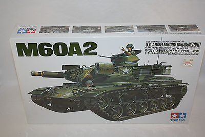 TAMIYA M60A2 U.S. ARMY MEDIUM TANK 1/35 SCALE PLASTIC MODEL KIT SEALED MINT