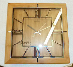 BULOVA DECORATIVE WALL CLOCK STUDIO MADE FROM RENEWABLE BAMBOO C4645