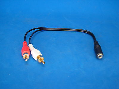 usa CONNECT YOUR COMPUTER SPEAKERS TO YOUR HOME TV OUTPUT 3.5MM RCA ADAPTER