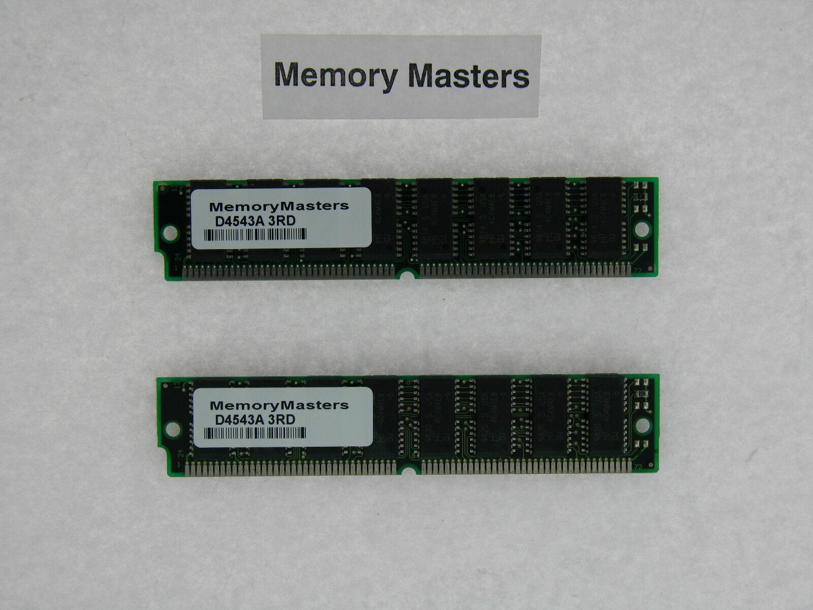 128MB 2x 64MB EDO DRAM SIMM 72p Memory RAM 72pin 16x4 ICs 60ns